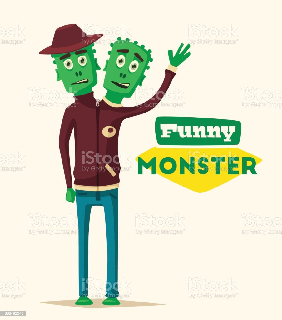 Funny monster. Cartoon vector illustration. vector art illustration