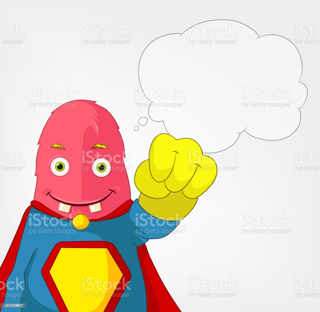 Funny Monster. Super hero. royalty-free stock vector art