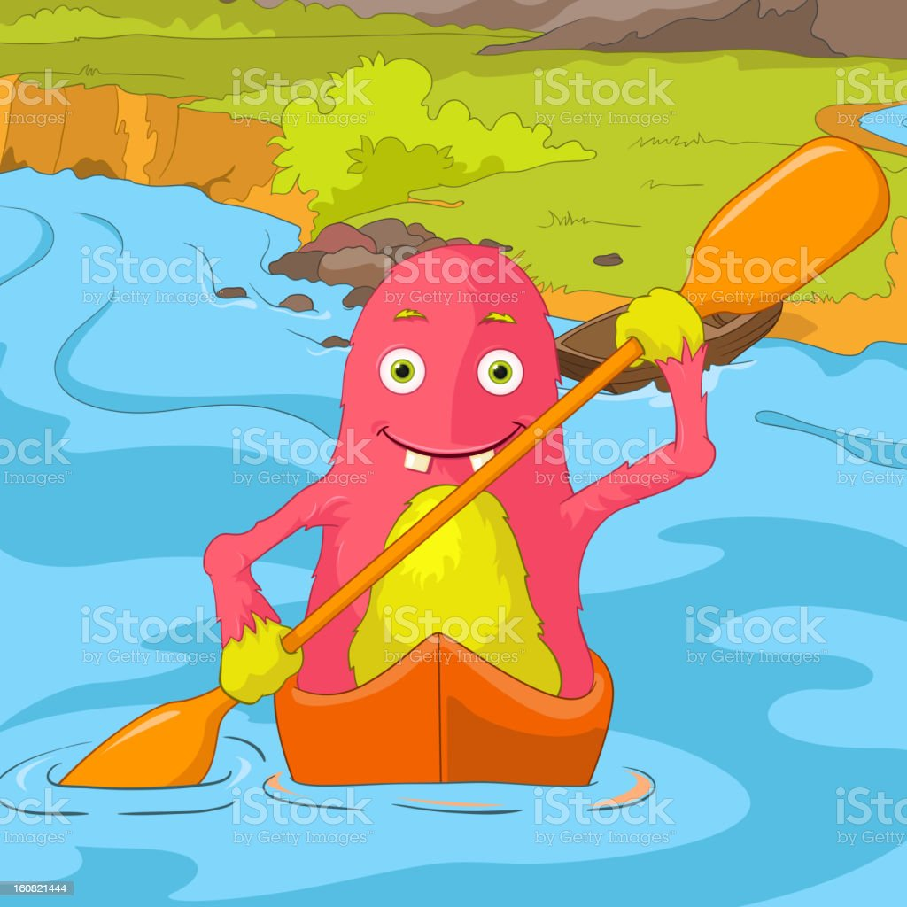 Funny Monster. royalty-free stock vector art