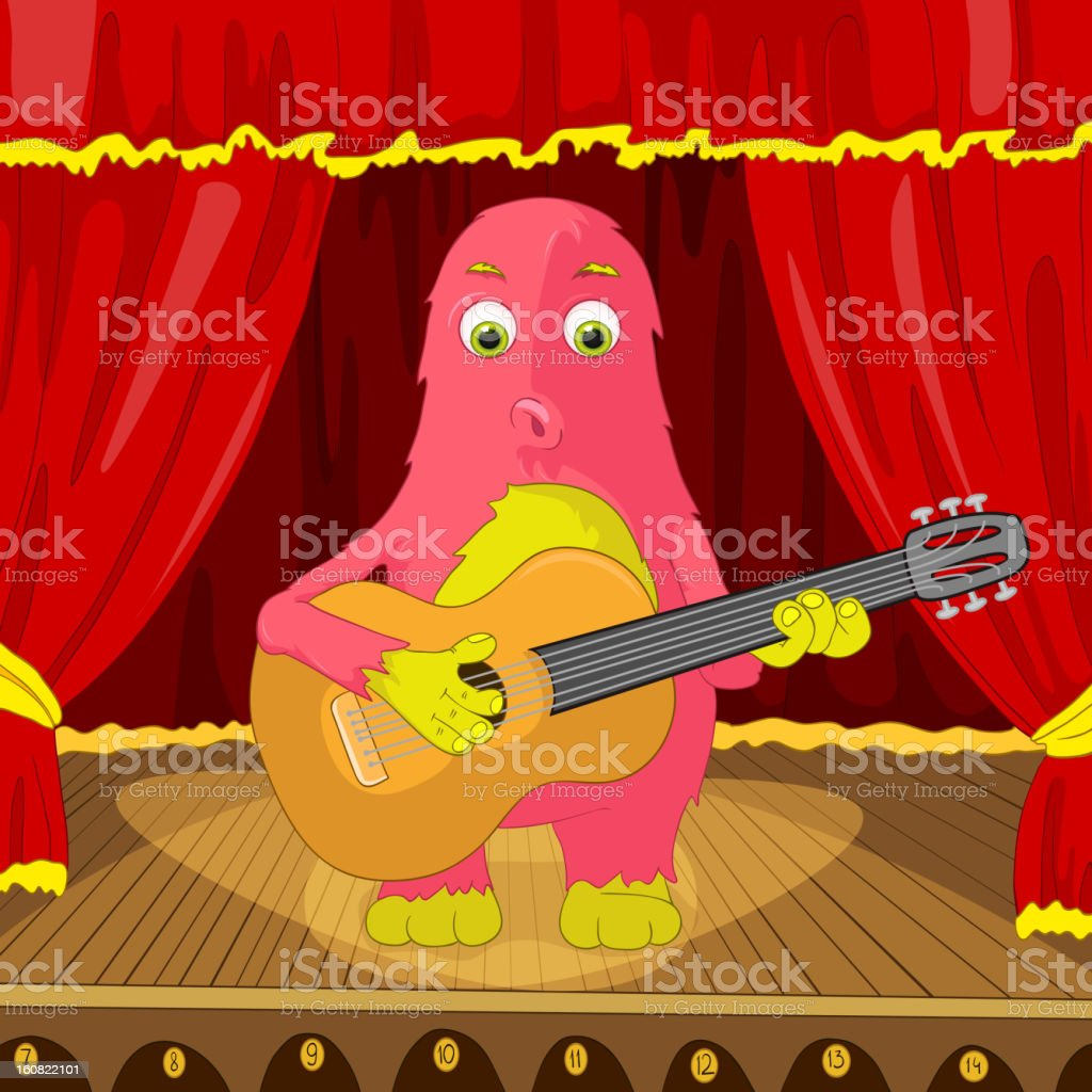 Funny Monster. royalty-free funny monster stock vector art & more images of acoustic guitar