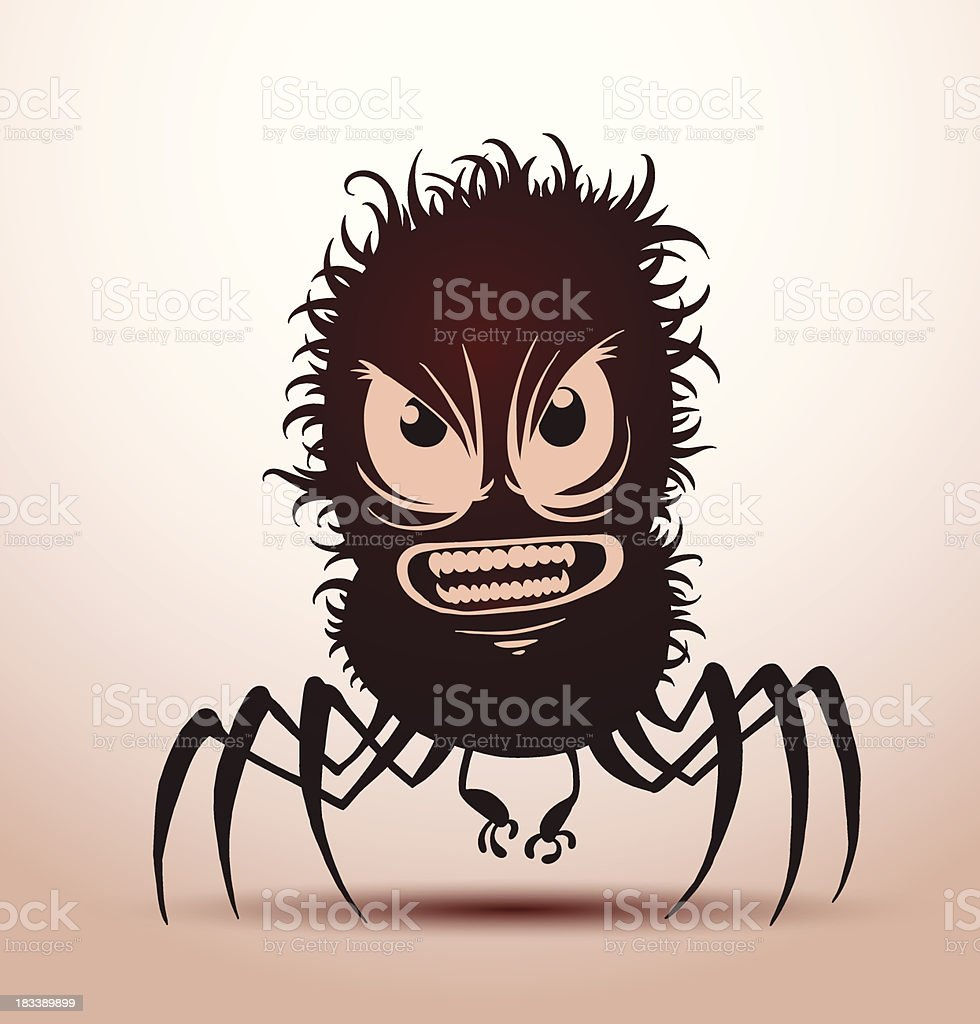 Funny monsters silhouette with six legs royalty-free stock vector art