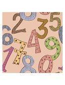funny numbers seamless pattern