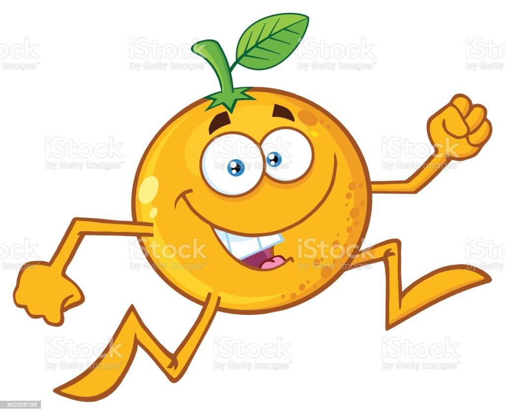 Dibujos Animados Texto Naranja: Dibujos Animados Icono De Ctricos Naranja Carcter De