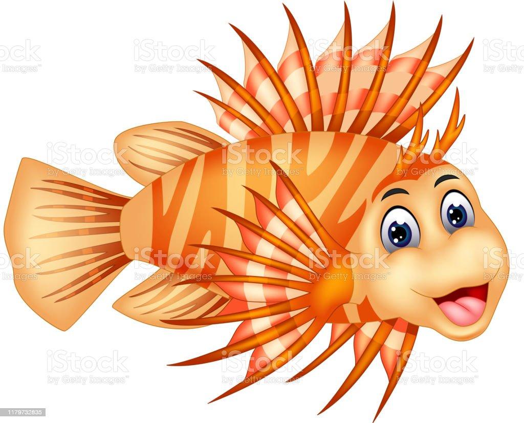 面白いオレンジライオン魚の漫画 イラストレーションのベクターアート素材や画像を多数ご用意 Istock