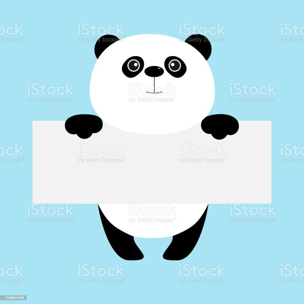 Funny Ours Panda Accroché Sur Le Modèle De Forum De Papier