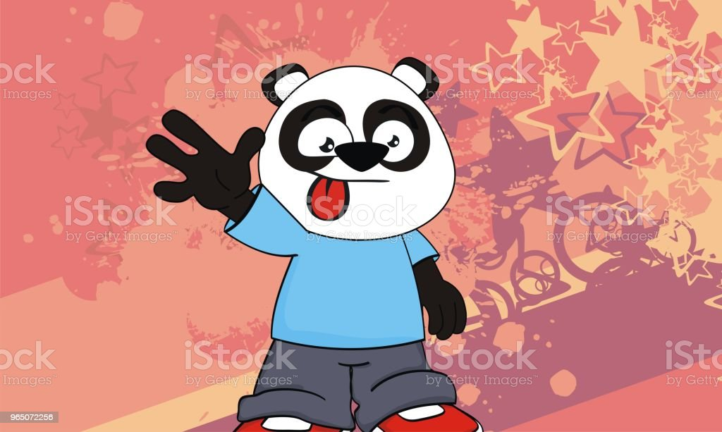funny panda bear kid cartoon expression background funny panda bear kid cartoon expression background - stockowe grafiki wektorowe i więcej obrazów ameryka Łacińska royalty-free