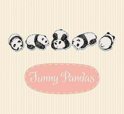 Funny Pandas set