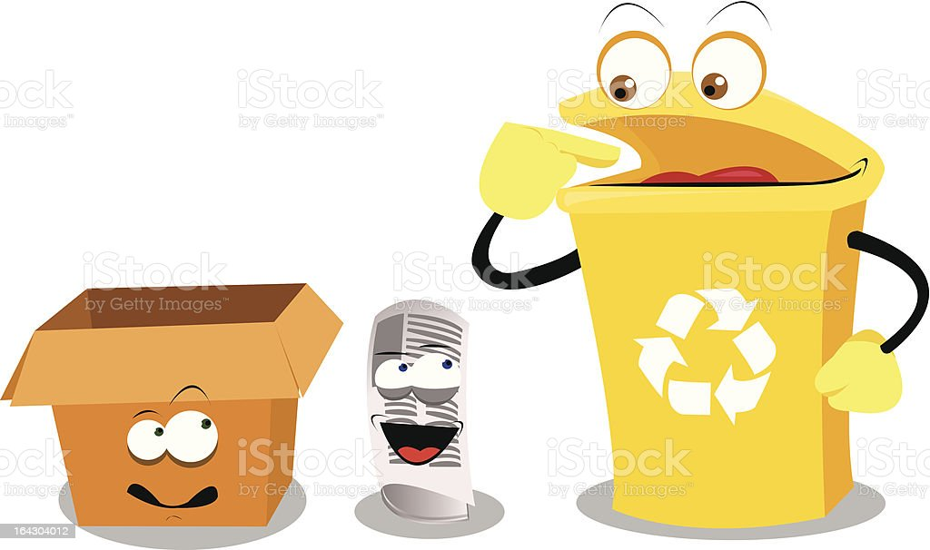 Funny Paper Recycling royalty-free stock vector art