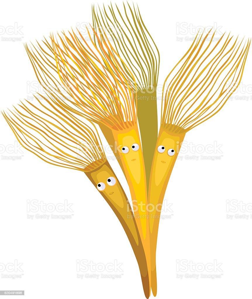 Funny Parazoanthus vector art illustration