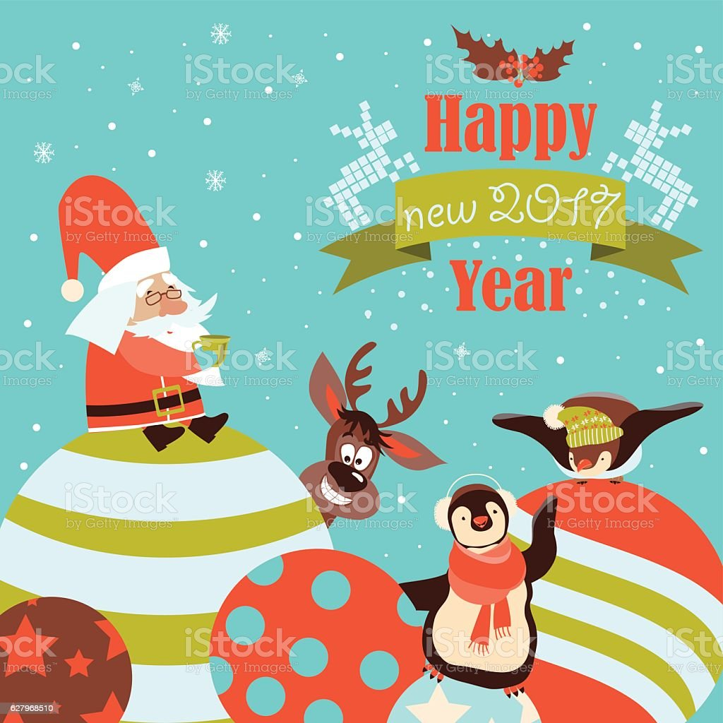 Babbo Natale Immagini Divertenti.Divertenti Pinguini Onore Di Natale Con Babbo Natale Immagini