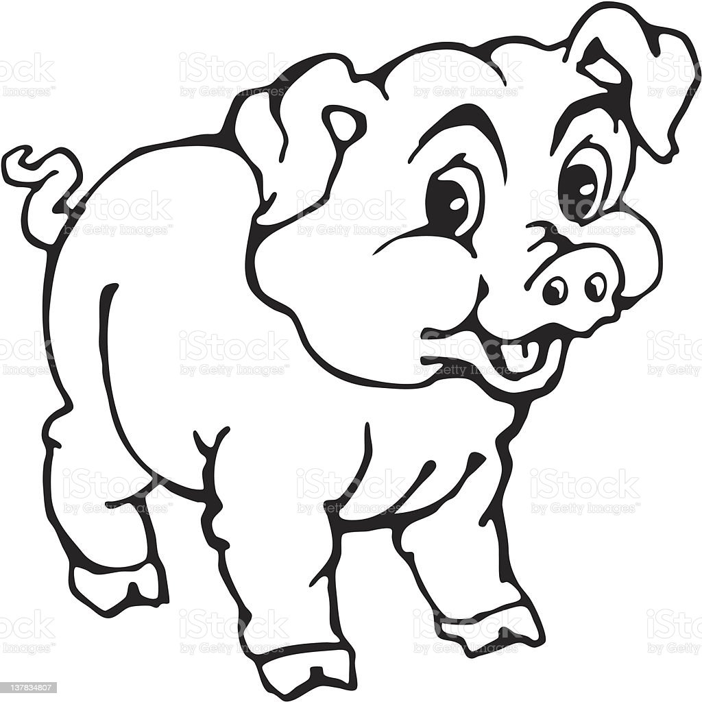 funny pig cartoon stock vector art 137834807 istock