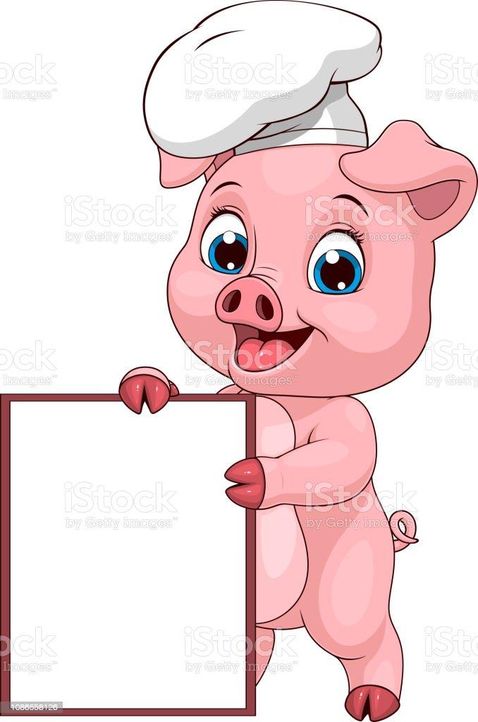 Chef De Drole De Cochon Vecteurs Libres De Droits Et Plus D Images Vectorielles De Aliment Istock