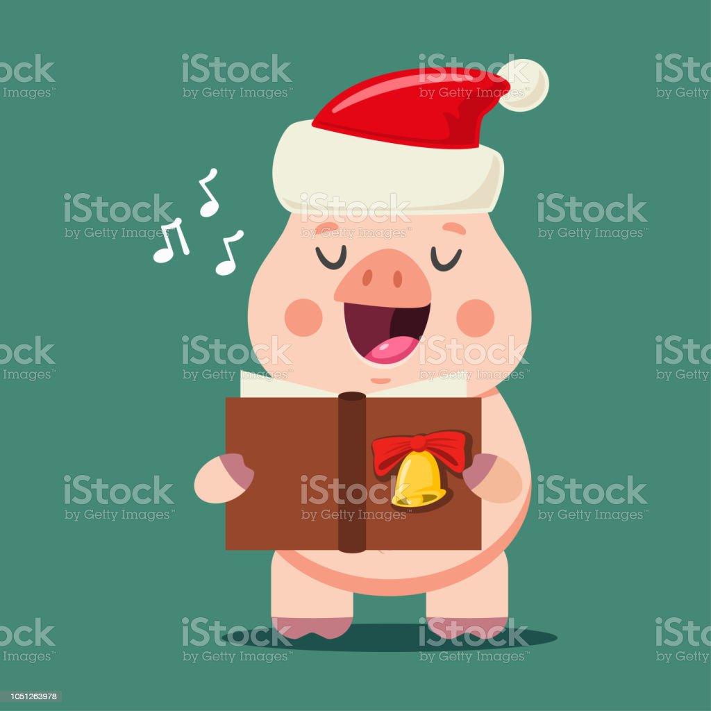 Lustige Weihnachtslieder.Lustige Katze Im Weihnachtsmannmutzesingen Weihnachtslieder
