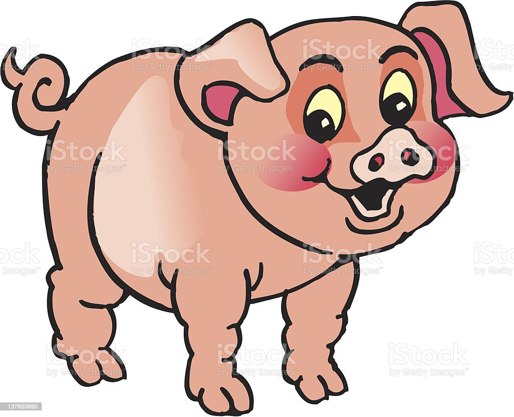 funny pig royalty-free funny pig stock vector art & more images of agriculture