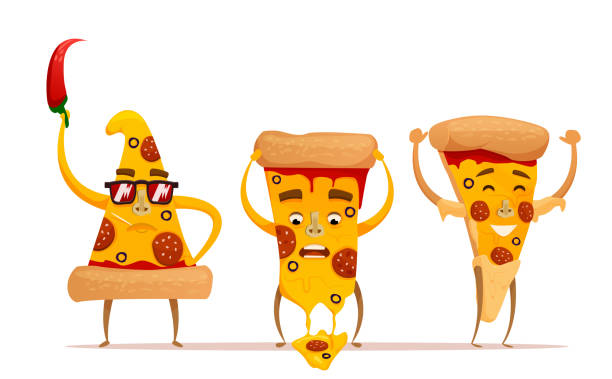 Royalty Free Cartoon Pizza Slice Clip Art, Vector Images ...