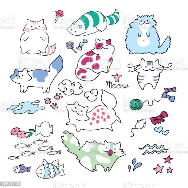 Funny playing charming child cat vector illustration set doodle vector id696141128?b=1&k=6&m=696141128&s=612x612&h=3nr5 dqzho7uenq6w8 vngi4y gdmb6zskvvmwbtgmc=