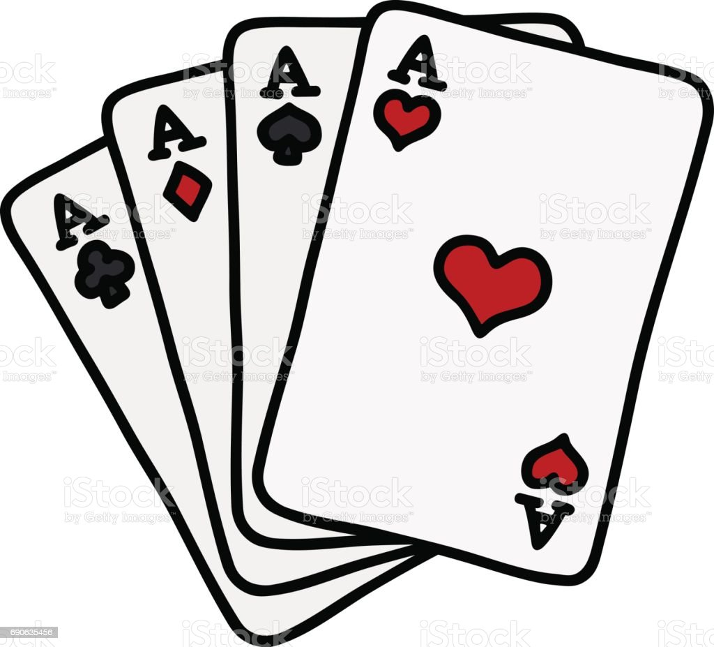 funny poker cards stock vector art more images of ace 690635456 rh istockphoto com playing cards vector simple playing cards vector free