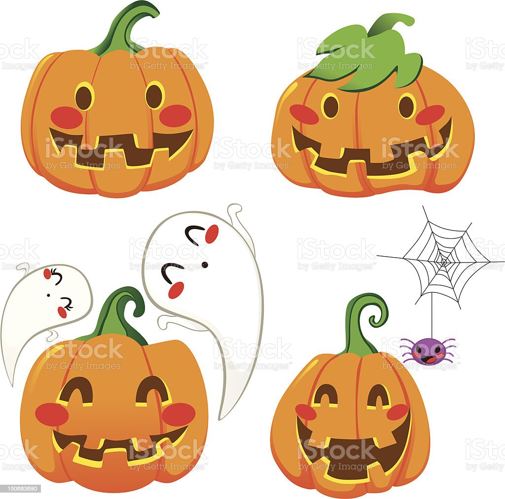 Funny Pumpkin Faces royalty-free funny pumpkin faces stock vector art & more images of animal