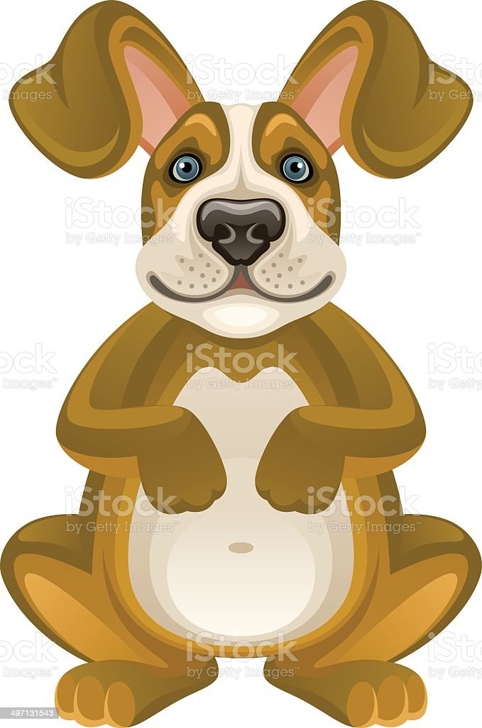 Funny puppy vector art illustration