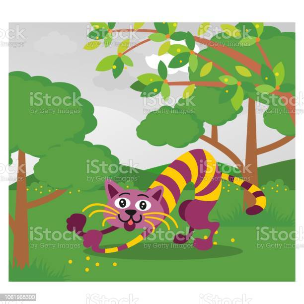 Funny purple cat looks stretched in the forest cartoon character vector id1061968300?b=1&k=6&m=1061968300&s=612x612&h=wytf io47ogc3giniydsbugssvlskuyp mod ti5 fi=