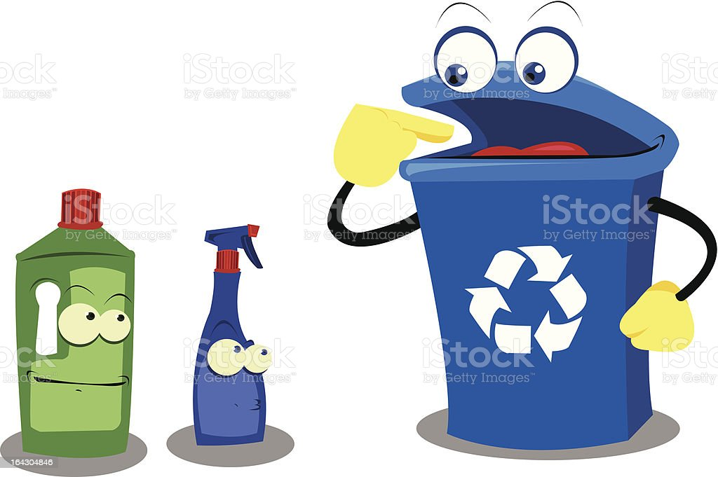 Funny Recycling Plastic royalty-free stock vector art
