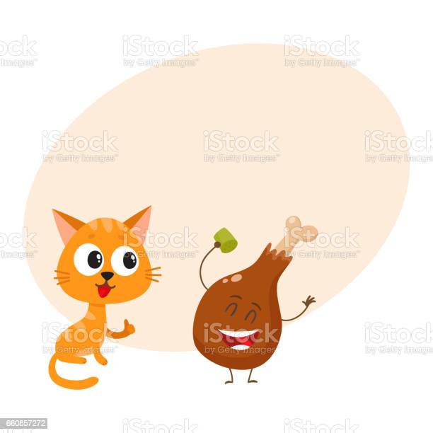 Funny red cat kitten character looking heartily at chicken stick vector id660857272?b=1&k=6&m=660857272&s=612x612&h=bwb0zwbaet7zorgkmiwi0g8t q04ycr1qlcqbcylyai=