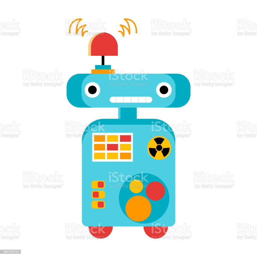 Funny robot with buttons and bulbs royalty-free funny robot with buttons and bulbs stock vector art & more images of animal