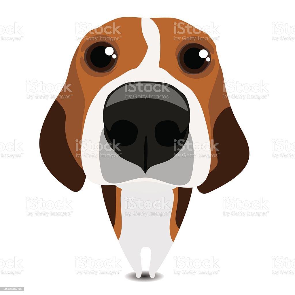 Funny triste beagle - ilustración de arte vectorial