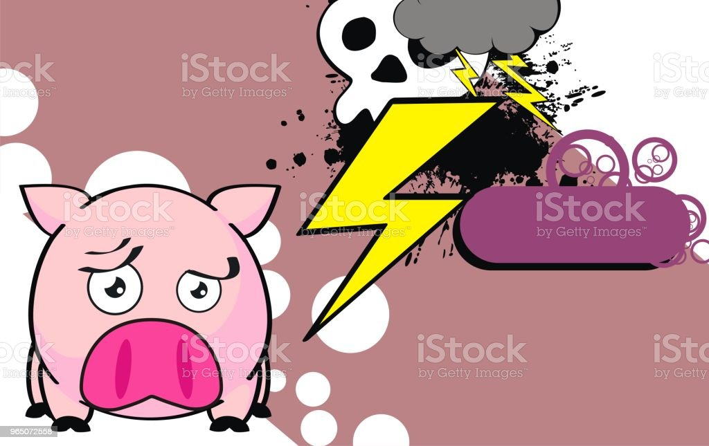 funny sad pink pig ball cartoon expression background royalty-free funny sad pink pig ball cartoon expression background stock illustration - download image now