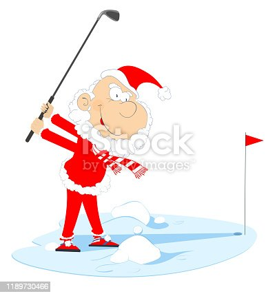 Golfing Santa Images, Stock Photos & Vectors | Shutterstock