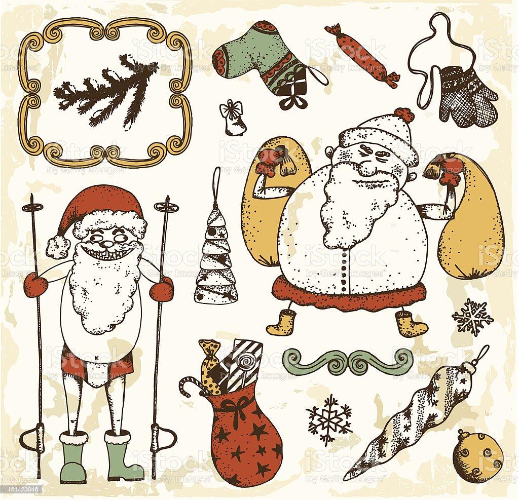 Funny santa claus royalty-free funny santa claus stock vector art & more images of bag