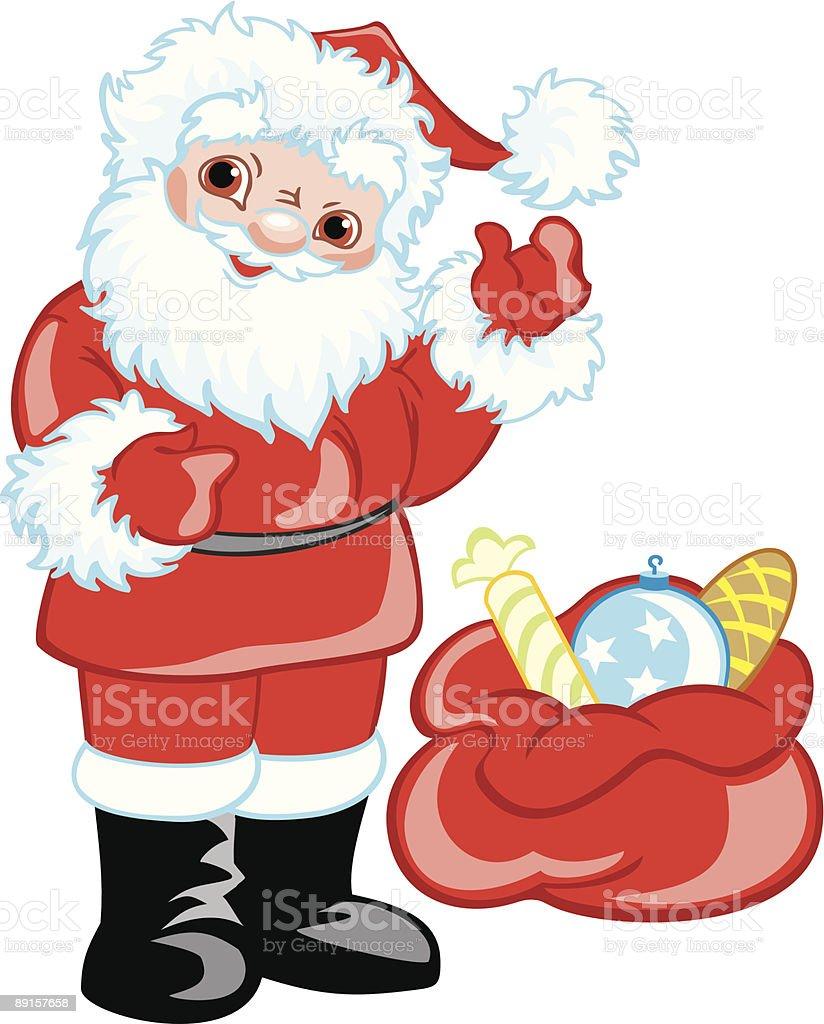 Funny Santa Claus royalty-free stock vector art