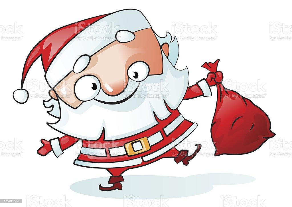 Funny Santa vector royalty-free funny santa vector stock vector art & more images of blue