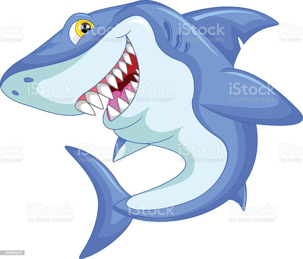 funny shark cartoon stock vector art 483684520 istock