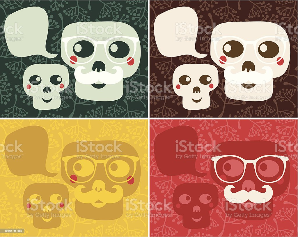 Funny skulls. royalty-free stock vector art
