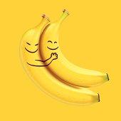 Funny sleeping bananas, vector Eps10 illustration.