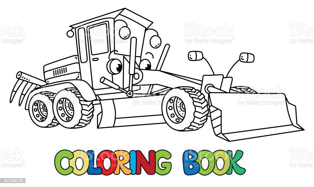 Ilustración de Coche Divertido Grado Pequeño Con Los Ojos Libro Para ...