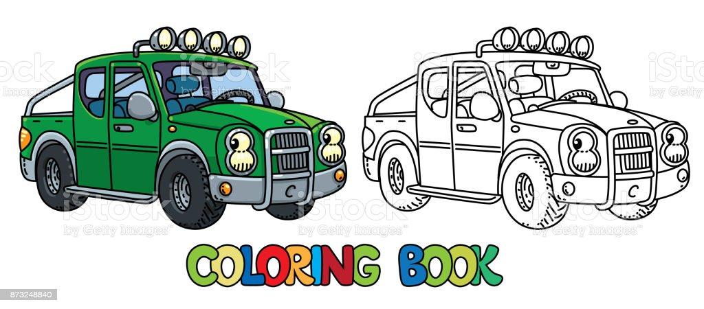 Drole Petite Camionnette Avec Les Yeux Livre De Coloriage Vecteurs Libres De Droits Et Plus D Images Vectorielles De Bonheur Istock