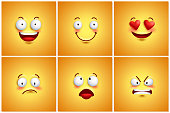 Funny smileys vector poster wallpaper backgrounds set