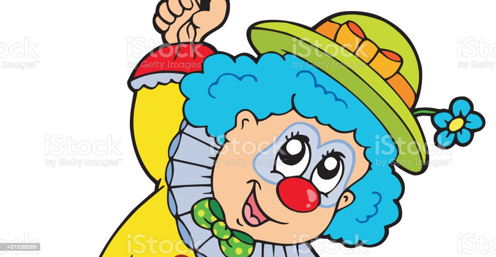 Funny smiling clown with balloons royalty-free stock vector art