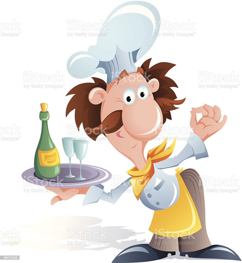 Funny smiling cook royalty-free funny smiling cook stock vector art & more images of adult