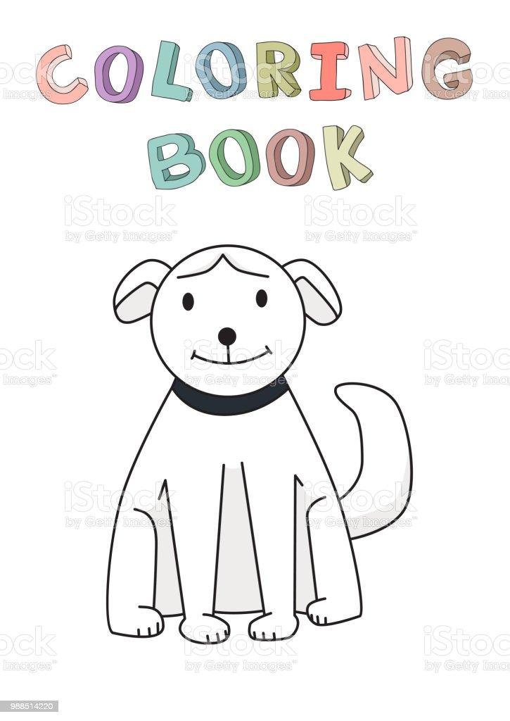 Ilustración de Divertido Personaje De Dibujos Animados Perro ...