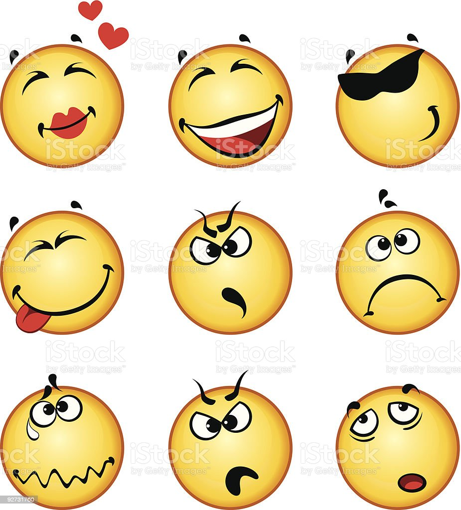 Funny smiling faces royalty-free funny smiling faces stock vector art & more images of abstract