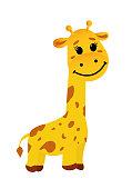 Funny smiling Giraffe - Vector illustration isolated