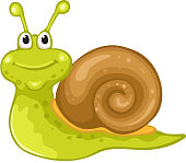 Funny snail cartoon.File saved in EPS 10 format and contains blend and transparency effect