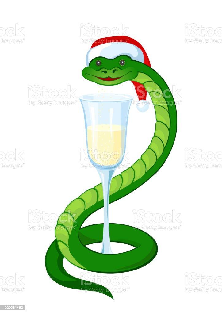 Lustige Schlange Symbol Für Das Chinesische Neujahr Stock Vektor Art ...