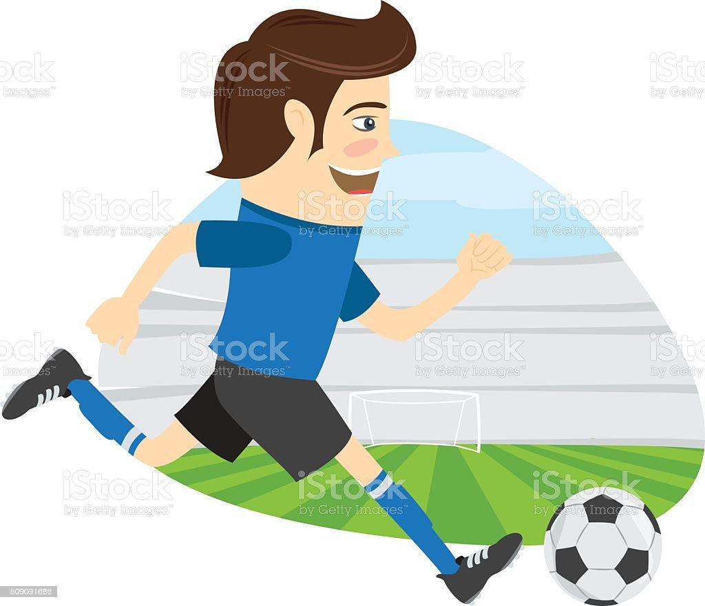 Drole De Football Football Joueur Bleu Teeshirt De En Cours