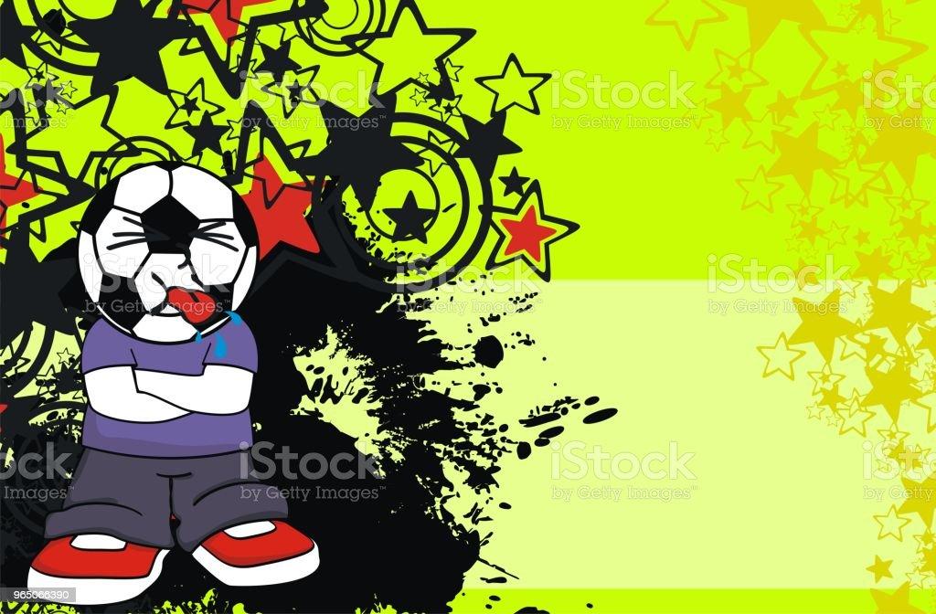 funny soccer head kid cartoon expression background funny soccer head kid cartoon expression background - stockowe grafiki wektorowe i więcej obrazów ameryka Łacińska royalty-free