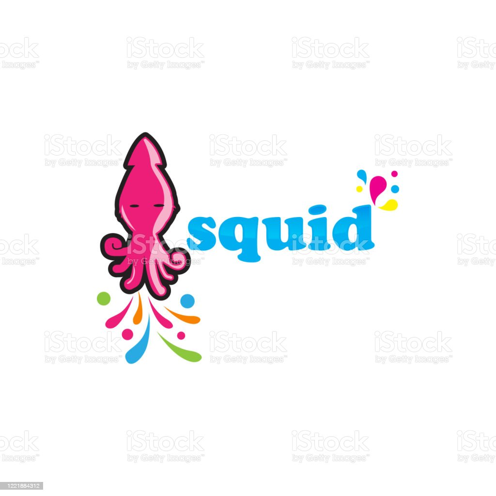 funny squid jellyfish cartoon logo design inspiration stock illustration download image now istock https www istockphoto com vector funny squid jellyfish cartoon logo design inspiration gm1221884312 358352601