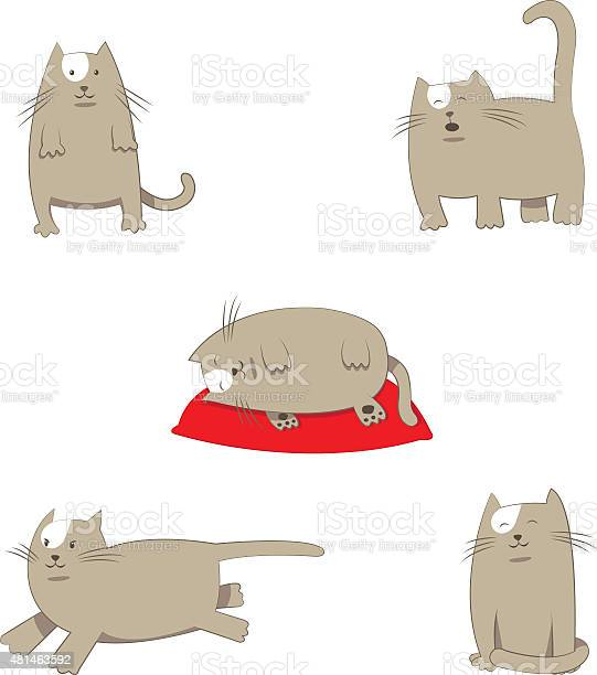 Funny stylized cartoon grey cat in different poses vector id481463592?b=1&k=6&m=481463592&s=612x612&h=yvoqmxztummo5xxzkacbex4nizuu85fsnfsi2s24ati=